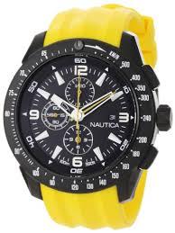 nautica men s n18599g nst 101 stainless steel watch yellow nautica mens n18599g nst 101 stainless steel watch