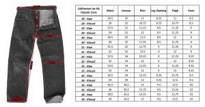 The Flat Head 3002 Size Chart Bottoms The Shop Vancouver