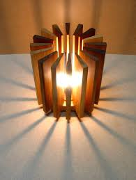 recycled lighting. Lamp Made From Wooden Pieces Lamps \u0026 Lights Recycled Lighting