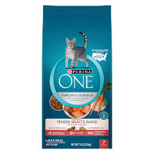 purina one tender selects blend with real salmon dry cat food 7 lb walmart