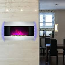 wall mounted electric fireplace hung heater