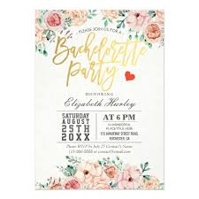 bachelorette party invite watercolor floral bachelorette party invitation zazzle com