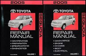 2005 toyota sequoia wiring diagram manual original 2005 toyota sequoia repair shop manual original set 159 00