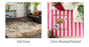 fall hues rugs color blocked rugs striped rugs