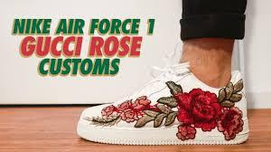 gucci air force 1. nike air force 1 gucci rose custom + on feet [4k] gucci air force