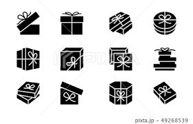 プレゼント ロゴ ベクター 贈り物のイラスト素材 Pixta