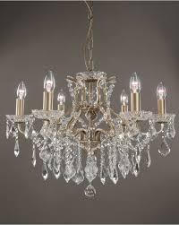 eden brushed gold 6 light shallow traditional glass crystal chandelier