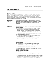 R Wayne Hipple's Resume Cool Retail Store Resume
