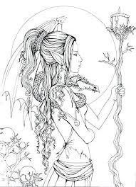 Fairy Coloring Pages For Adults Dancing Fairy Coloring Page Free