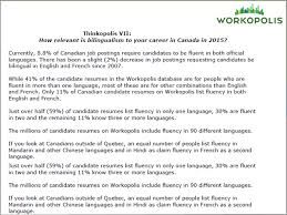 Bilingual Resumes Thinkopolis Vii How Relevant Is Bilingualism To Your Career In