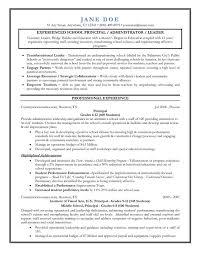 principal resume