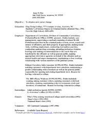 Sample Resume Objectives For Probation Officer Save Probation
