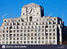 art deco north london. stock photo - the art deco facade of shell mex house in london north
