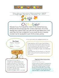 Kindergarten Newsletter Template For Free Editable Weekly