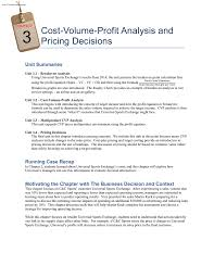 Chapter 3 – Cost-Volume-Profit Analysis And Pricing Decisions