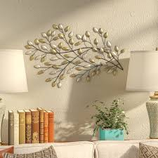 on stratton home decor blowing leaves metal wall art with fleur de lis living blowing leaves wall d cor reviews wayfair