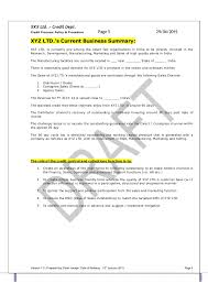 How To Prepare A Sop Format Impressive TEMPLATE Credit Policy And Related SOPs PDF 44
