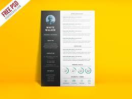 Clean Modern Resume Freebie Simple And Clean Resume Cv Template Psd On Behance
