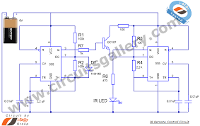 radio remote control circuit diagram the wiring diagram ir transmitter and receiver circuit for best remote control system circuit diagram