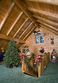 you can see even more photos of the beautiful decorations in this real log home on our including more santa bears the christmas tree in the
