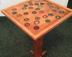 bottle cap furniture. Bottle Cap End Table - Handmade Wooden Furniture