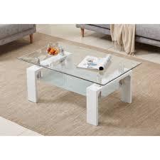 gloss modern rectangle coffee table