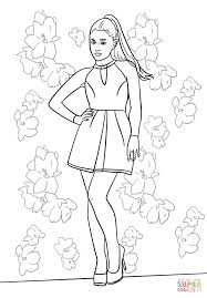 Small Picture Ariana Grande coloring page Free Printable Coloring Pages
