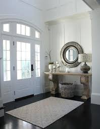 round wood foyer table foyer tableirrors with ceramic pillar entry beach style arched doorway round wood foyer table