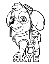 Free Coloring Sheets Paw Patrol Skye Marshall And Rocky Coloring