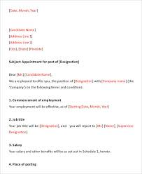 Samples Of Appointment Letter For An Employee 30 Appointment Letters Free Word Pdf Documents Download Free