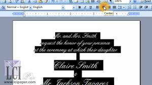 Wedding Template Microsoft Word How To Print Blank Invitations At Home