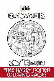 Top 20 free printable cat coloring pages. Free Printable Coloring Page Hogwarts Circle Slytherin Harry Potter Stevie Doodles