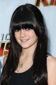 an 11yearold kylie started out with jetblack hair and an adorable heavy fringe