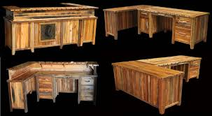 barnwood furniture for sale. Left Smooth Barnwood Pc Desk WReturn And Tile Scene 7220 Intended Furniture For Sale