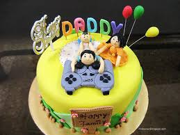 New Daddy Birthday Cake Happy Dad With Toddler By Shikha Cakesdecor