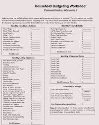 Sample Household Budgets 12 Household Budget Worksheet Templates Excel Easy Budgets