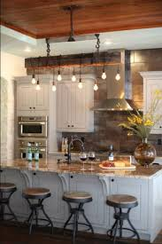 country cottage lighting ideas. Cottage Country Kitchen With White Cabinetry And Island, 1-light Mini Pendant Bar Stools.Source: Wayfair Lighting Ideas