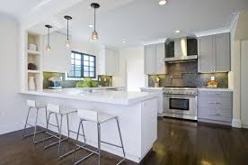 white shaker cabinets with quartz countertops. gray shaker cabinets white with quartz countertops