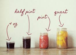 ball quart canning jars. standard sizes for canning jars: 4 oz, half pint, pint and quart ball jars