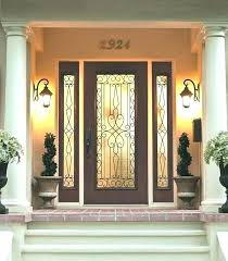 wood entry doors with glass entry door with glass wrought iron outside view exterior inserts home