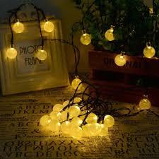 solar lighting string outdoor garden lights warm 7m 30 led crystal ball trees party decor dream fairy lamp light string string