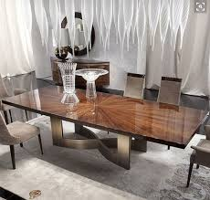 Wood Modern Dining Table Design Dining Room Dining Table Sunburst Detail Reference