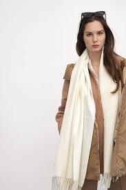 J.ING Women's Scarves | Ivory Long Scarf
