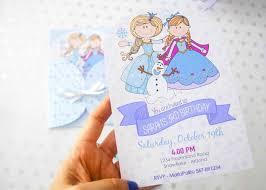 Frozen Birthday Invitations Printable Frozen Birthday Invitation Hand Drawn Personalized Winter Birthday Party Invite E394