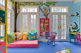 kids play room furniture. nice kids playroom with cute animal forest wall murals add your play room furniture