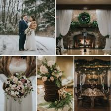 a greenery filled snowy winter wedding at the chandelier ballroom