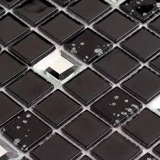 whole black crystal glass mosaic
