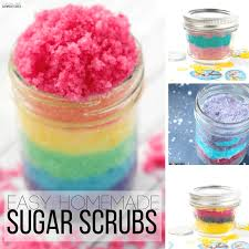 easy homemade sugar scrub recipes