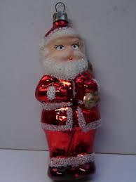 Details Zu Weihnachtsschmuck Christbaumschmuck Figur Weihnachtsmann Rot Lauscha Glas