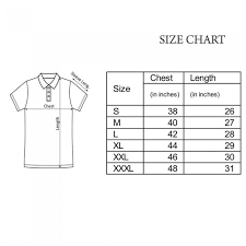 Us Polo Assn Size Chart U S Polo Assn T Shirt